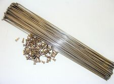 ~ 75 New DT Swiss 305mm Champion Stainless 2.0mm 14 Gauge Spokes /& Nipples ~
