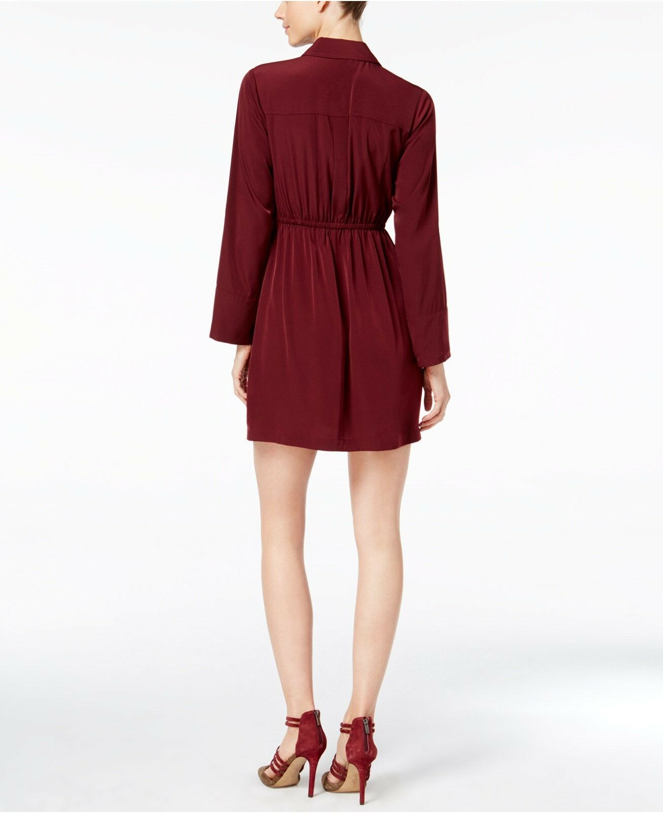 Alfani nueva utilidad de cuello en V V V manga larga vestido rojo 2 84b16b