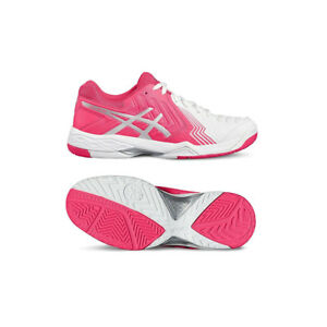 Details about NIB WOMEN ASICS E755Y 0120 GEL GAME 6 WHITEDIVA PINKSILVER NETBALLER SHOE $120
