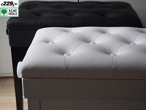 A coda pinao bench sgabello pianoforte piano bianco lucidato wooden