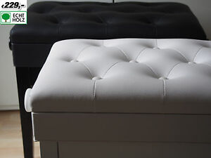 A coda pinao bench sgabello pianoforte piano bianco lucidato