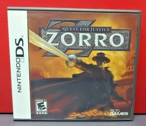 Zorro-Quest-For-Justice-Nintendo-DS-DS-Lite-3DS-2DS-Game-Complete-Tested