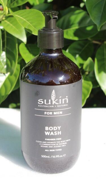 Sukin for Men 500mL body wash, Vegan & Cruelty Free FNQ_Variety