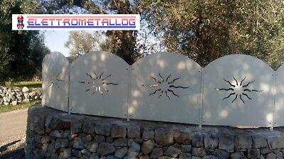Pannelli per recinzione in ferro zincato
