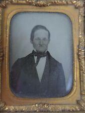 Man in a Suit Portrait Antique Daguerreotype Photo, Half Case, 1/9th 1800's