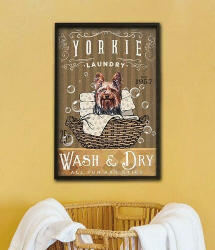 Yorkie Wash /& Dry All Fur Varietles Paper Poster Without Frame US Supplier