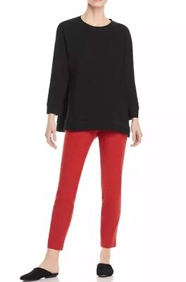SMALL NEW EILEEN FISHER SERRANO WASHABLE STRETCH CREPE SLIM ANKLE PANT