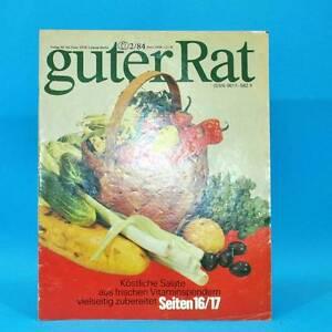 Guter-Rat-2-1984-Verlag-fuer-die-Frau-DDR-Elasan-Kloesse-Gartenmoebel-Sonnenuhr-G