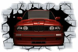 Huge-3D-BMW-Crashing-through-wall-View-Wall-Sticker-Mural-Decal-Film-2