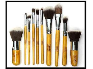 10-Pcs-Professional-Make-up-Brushes-Set-Foundation-Blusher-Kabuki-Super-Soft-UK