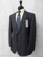 Men's Brand Burton Tailored Fit Dark Blue Suit 44r W38 L33.5 Ar9999
