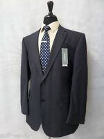 Men's Brand Burton Tailored Fit Dark Blue Suit 44r W38 L33.5 Ar9999