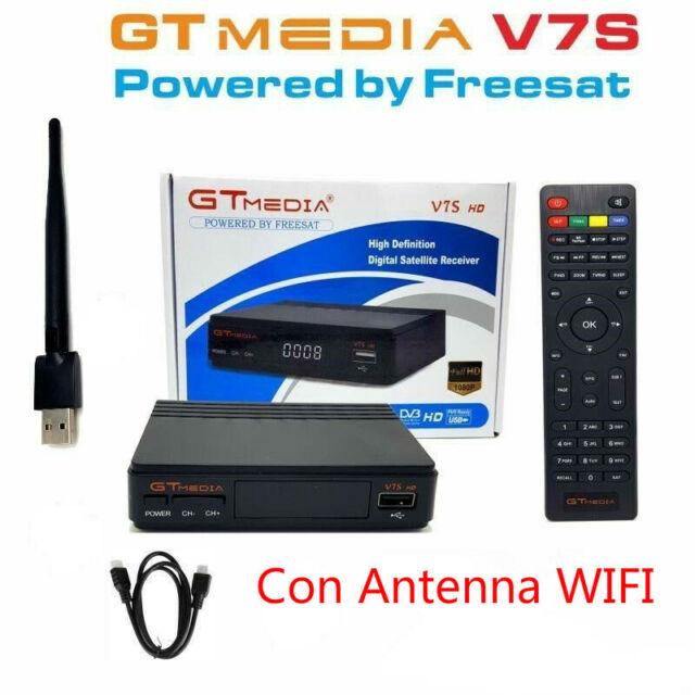 Receptor Satelital GTMedia V7S FREESAT FULL HD 1080p dvb-s2 +con antena WIFI