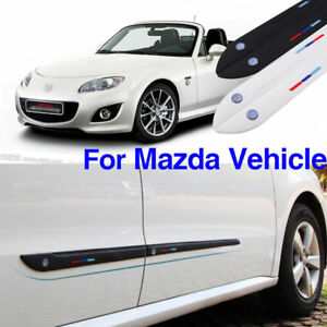 Anti-rub-Body-Side-Door-Rubber-Decoration-Strips-Protector-Bumper-Bars-For-Mazda
