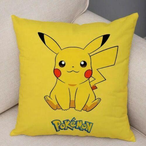 Pokemon Pikachu Housse de coussin 45 x 45 cm en jaune nouvelle marque cadeau decor enfants