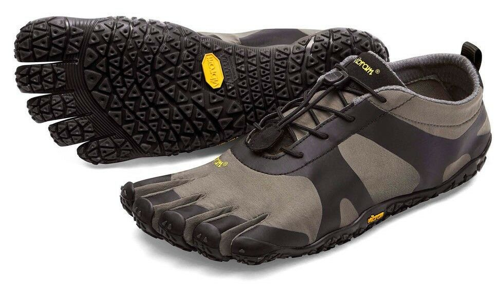 Vibram 18M7102 Mens V‑Alpha Grey Black Outdoor Performance Grip Minimal shoes