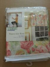 Martha Stewart Everyday Poly Cotton Watercolor Rose Single Window Valance 8787