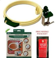 Clover Turnable 7 Inch Hoop Rotates 360 Degreesget A Free Pack Of 8 Needles