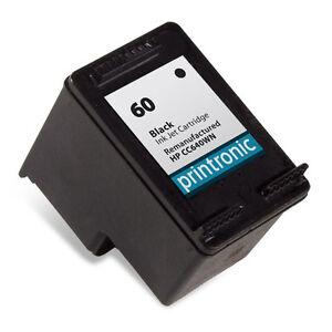 Black HP 60 Ink Cartridge - DeskJet D1660 D1663 D2530 ...