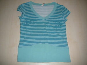 QS-by-s-Oliver-tolles-T-Shirt-Gr-158-164-oder-XS-tuerkis-blau