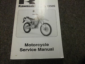 2009-Kawasaki-KLX250S-MOTORCYCLE-Service-Repair-Shop-Manual-OEM-09-FACTORY