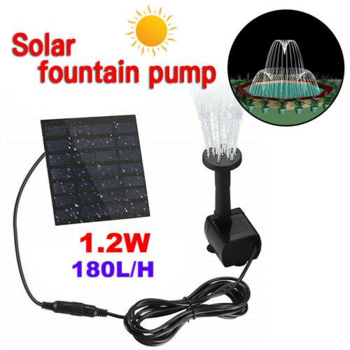180L//H Solar Panel Powered Water Feature Pump Garden Pool Pond Fountain Aquarium