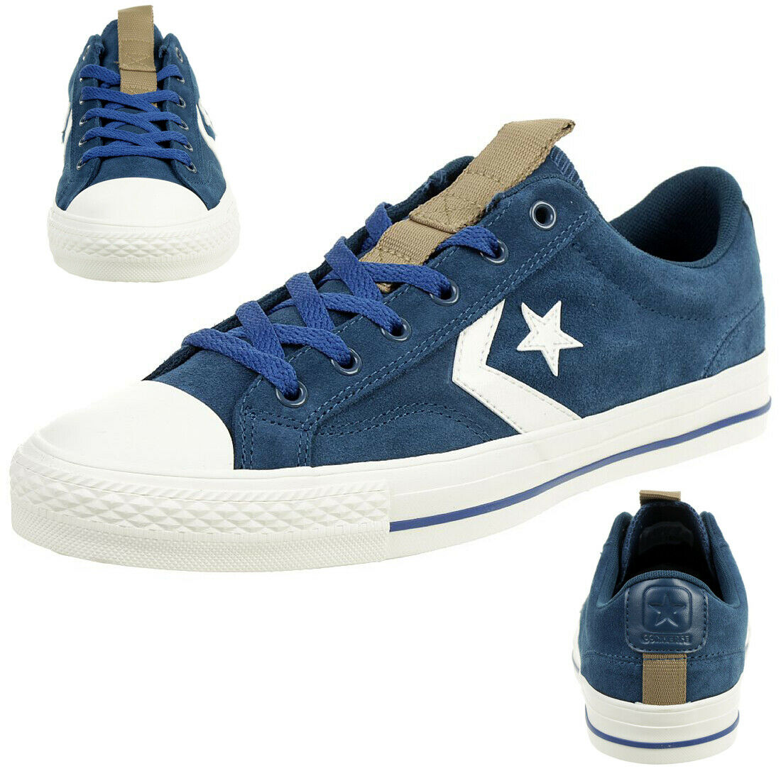 Converse Star Player Ox Shoes Trainers Suede Blue 162569C | eBay