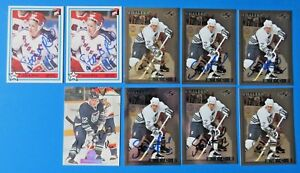 LOT OF 9 STEVEN RICE SIGNED HOCKEY CARDS ~ 100% GUARANTEE