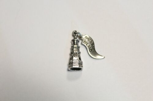 Oak Island Lighthouse Charm for Vacation or Travel Keepsakes Sterling Silver from D/&J