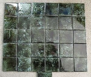 Image Is Loading 1970 039 S Vintage Glazed Lava Stone Tile