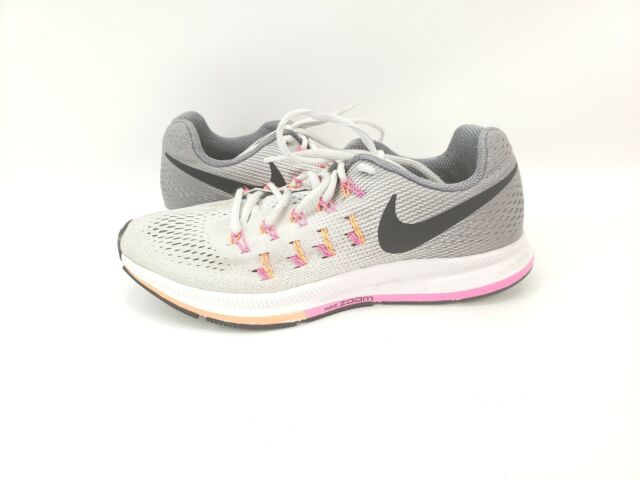 Nike Zoom Pegasus 33 Womens Size 7 Running Shoes Graymulticolor