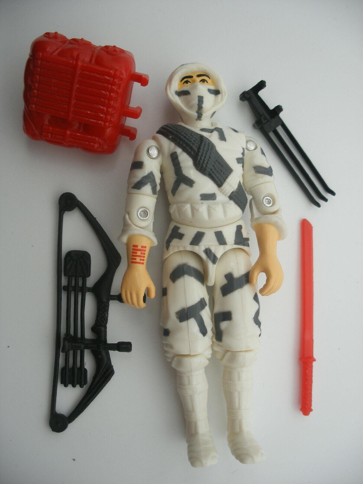 Hasbro gijoe GI joe ORIGINAL vintage figure 1988 STORM SHADOW TORNADE complet