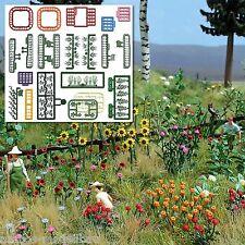 BUSCH 1258 H0, Blumen- und Pflanzen-Set, Bausatz, Neu