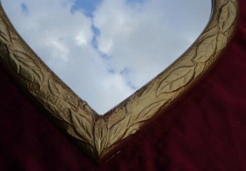 * Miroir mural coeur chère miroir valentin Baroque Or Amour Cadeau Neuf ** 12