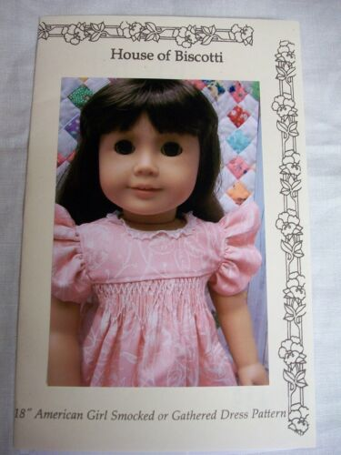 "Smocking PATTERN for 18/"" American Girl and Chubby Vinyl Dolls"