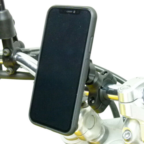 Motorcycle Handlebar Mount & TiGRA FITCLIC Case for iPhone XS