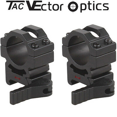 "Vector Optics Tactical 25.4mm 1"" Quick Release Rifle Scope Picatinny QD Mount"