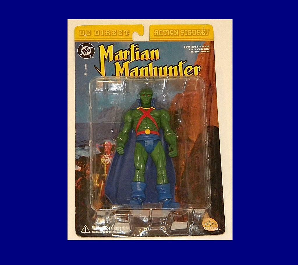 DC DIRECT MARTIAN MAN HUNTER MINT-ON-CARD RARE ACTION FIGURE FROM DC COMICS