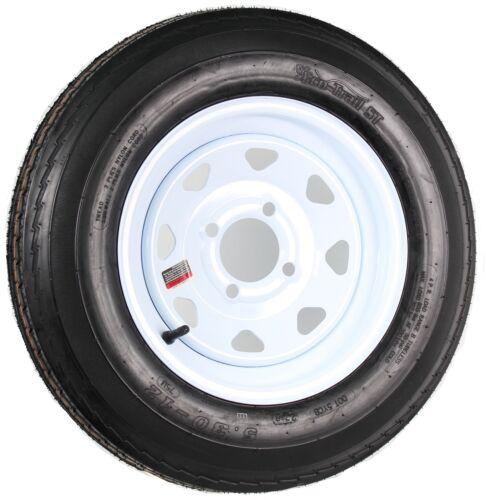 4 Lug Hole Wheel White Spoke Trailer Tire On Rim 5.30-12 530-12 5.30 X 12 12 in