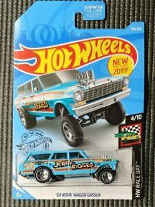 Hot-Wheels-Race-Day-Jerry-Rigged-1964-Nova-Wagon-Gasser-Light-Blue