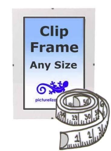 "Clip Frame Any Size Custom Made from 40x40/"" to 48x48/"" Frameless Clip Frame"