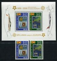 Sri Lanka 2006 50 Jahre Europamarken CEPT 1525-26 + Block 102 ** MNH