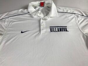 Villanova-Wildcats-Polo-Shirt-Mens-Large-Nike-Dri-Fit-Dry-Student-Alumni-Waffle