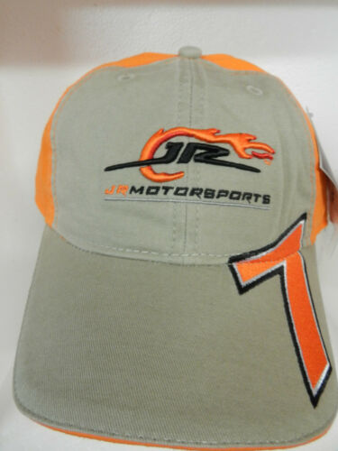 NEW CHASE DANICA PATRICK #7 KHAKI /& ORANGE FLAMES HAT CAP JR MOTORSPORTS NASCAR