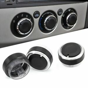 FORD FOCUS ST C-MAX S-MAX HEATER AIR CON CONTROL KNOBS UPGRADE IN BLUE SMART