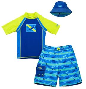 Uv Skinz Boys/' 3-piece Swim Set UPF 50 Sun Protection Hammerhead Shark