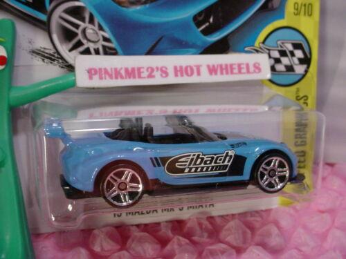 /'15 MAZDA MX-5 MIATA #177 US✰blue;pr5✰speed graphics✰2017 Hot Wheels case H//J