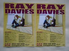 RAY DAVIES/Kinks Live in Concert. 2012 UK Tour. Promo tour flyers x 2