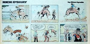 Rick-O-039-Shay-by-Stan-Lynde-full-color-Sunday-comic-page-May-11-1975
