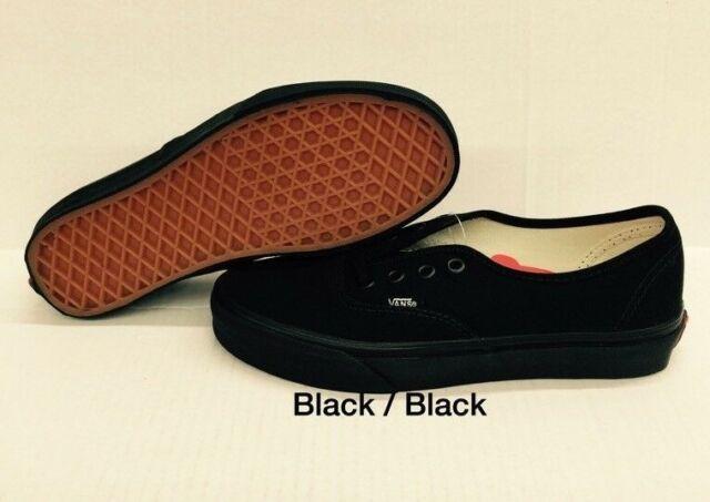 655c136d27 VANS Men Shoes Authentic All Black Canvas Fashion Skate SNEAKERS ...